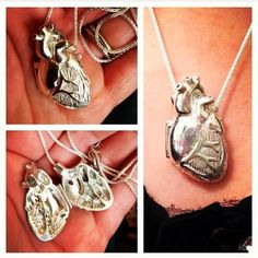 Check out this anatomically correct heart locket that my husband bought me! (I'm a ER nurse, hearts are my thing. Chic Outfit, Anatomically Correct Heart, Jewelry Box, Jewelry Accessories, Men's Jewellery, Heart Locket, Locket Necklace, Gold Locket, Diy Schmuck