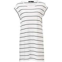 TEE DRESS ($32) ❤ liked on Polyvore featuring dresses, tee shirt dress, white day dress, tee dress, t-shirt dresses and white color dress