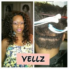 Natural curly...sew-in with vellz