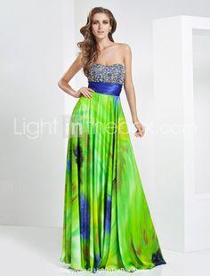 A-line Sweetheart Floor-length Chiffon Evening Dress - USD $ 249.99