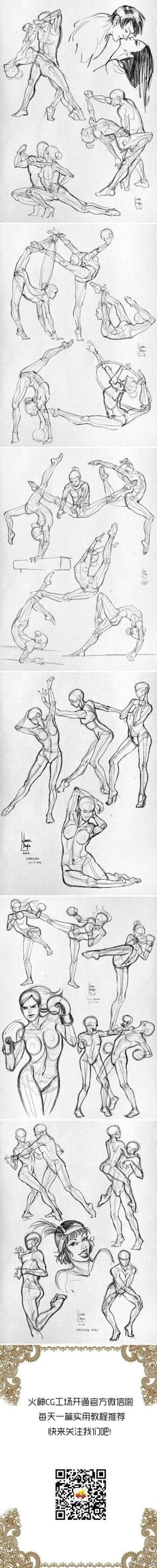Fantastic Poses drawn well!! Would be really good for Cast comics!