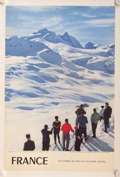 Soon the holidays! The snow fields of Val D'Isere France by Carabin Vintage Ski, Vintage Travel Posters, Air France, Champs, Snowboarding, Skiing, Ski Lodge Decor, Snow Place, Poster Vintage
