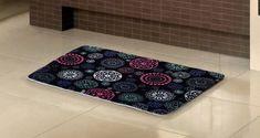 Geo Printded Design Memory Foam Bath Mat/rug : 17
