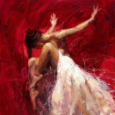 Beautiful Palette Knife Paintings of Dramatic Female Figures