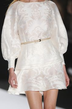 #Carolina Herrera Spring New York Fashion Week 2013 #Trend White #Details