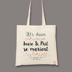 Lets dance, xxxx & xxx se marient Un cadeau personnalisé pour vos proches, pour un sac cadeau ou un cadeau dans le sac ! Cadeau de mariage, cadeau