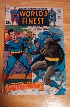 Worlds Finest #182 - F+ 1969 Superman & Batman-DC Comics-Silver Age