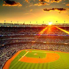 Sunset at Yankee Stadium  - @Jeffrey Kalmikoff Kalmikoff P