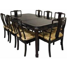Rosewood Dining Room Set, Rosewood, Red