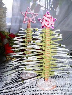 Поделка изделие Новый год Плетение Завтра дарить Трубочки бумажные фото 8