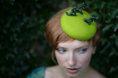 Soldier On! Green felt soldier beret. http://www.theheadmistressboutique.com/ https://www.etsy.com/uk/shop/headmistressboutique?ref=si_shop