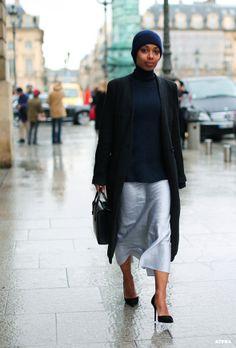 Azza Yousif at Paris Fashion Week F/W 2014-15