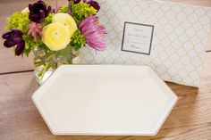 Porcelain tray with gold rim. Included in our Celebrate Spring Box!