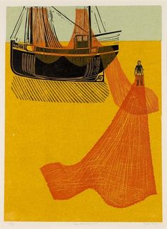 Sussex Boats and Nets by Robert Tavener