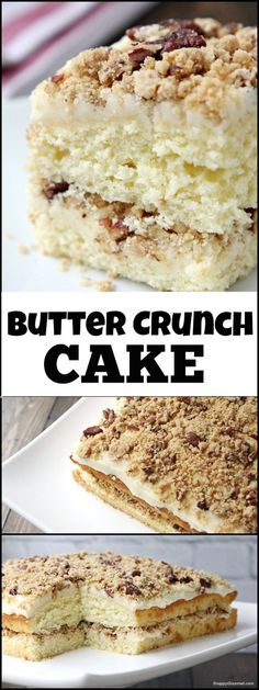 Butter Crunch Cake - easy cake recipe that is perfect for holiday parties or potlucks with @Finlandiacheese imported premium butter.  #Ad #FinlandiaButter SnappyGourmet.com