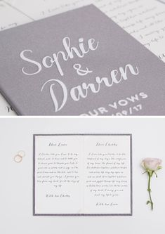 Personalised Wedding Vow Books Gold Foil or White Velour Gray Keepsake Calligraphy Vows Bride and Groom Ceremony Bride Speech, Groom's Speech, Rustic Wedding, Wedding Ceremony, Wedding White, Photo Guest Book, Vow Book, Sweet Memories, Gold Foil