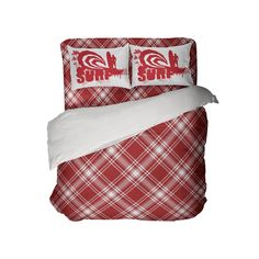 Kids Preppy Red Surfer Plaid Comforter Set from Kids Bedding Company Toddler Comforter Sets, Queen Size Comforter Sets, Queen Size Duvet Covers, Kids Bedding Sets, Duvet Cover Sets, Plaid Comforter, Preppy Bedding, Plaid Curtains, Decorative Pillow Cases
