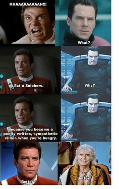 : I actually like benidict Cumberbach version of Kahn Star Trek Meme, Star Trek Tos, Star Wars Humor, Star Wars Poster, Star Wars Art, Lego Star Wars, Star Trek Warp, Star Trek Characters, Star Trek Universe