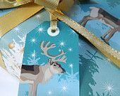 Four Winter Woodland Gift Tags - a perfect finishing touch to the Winter Woodland gift wrap. £1.80, via Etsy.