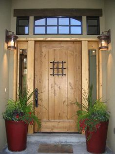 23 Beautiful Farmhouse Front Door Entrance Decor and Design Ideas Front Door Entrance, House Front Door, Entrance Decor, Entrance Design, Front Entrances, House Entrance, Entry Doors, Entrance Ideas, Entryway
