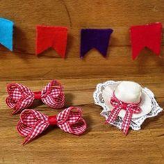Bom dia! Já fez sua encomenda para curtir as festas juninas em grande estilo? Laços e chapéu caipira! Todos ficam um charme!!!