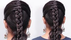 Beautiful French braid Hairstyles / Unique Hairstyle ideas for party / H... Party Hairstyles, Unique Hairstyles, Latest Hairstyles, Hairstyle Ideas, Girl Hairstyles, French Braid Hairstyles, Trending Hairstyles, New Hair, Braids