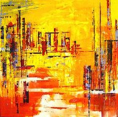Inspirational art decor on a amazing aesthetic background on canvas made of acrylic paints for art by LikaMellow artist . Sand Painting, City Painting, Yellow Painting, Singapore City, Abstract City, Aesthetic Backgrounds, Art Decor, Meditation, Canvas
