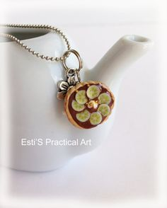 Hey, I found this really awesome Etsy listing at https://www.etsy.com/listing/186627833/banana-and-chocolate-pie-charm-miniature