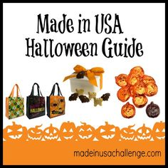Treat your kids with these ideas for green, made in USA costumes, trick or treat bags, decorations, gifts and candy. Happy Halloween! #madeinusa