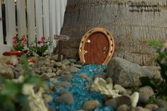 Have you seen the adorable Fairy Gardens that are so popular right now?      For the last year or so, I have been staring at a small stump in the back yard imag…