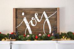 wood holiday sign