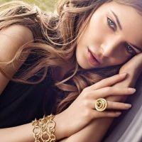 Elegant Slumming Fine Jewelry model with rings