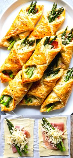 These Prosciutto Asparagus Puff Pastry Bundles are an easy and elegant appetizer or brunch idea!  Perfect for Easter, Mother's Day or any other spring brunch!