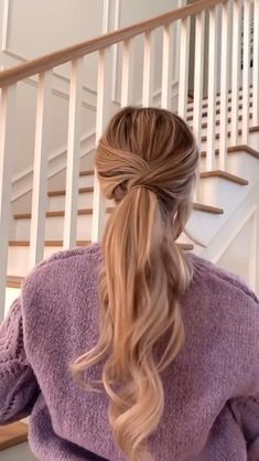 Easy Hairstyles For Long Hair, Pretty Hairstyles, Braided Hairstyles, Cute Blonde Hairstyles, Ponytail Hairstyles Tutorial, Heatless Hairstyles, Cute Simple Hairstyles, Dance Hairstyles, Everyday Hairstyles