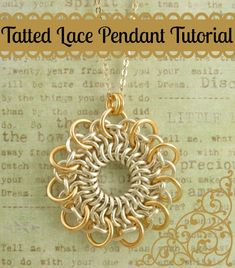 Tatted Lace Pendant Tutorial  Stunning by UnkamenSupplies on Etsy, $12.00