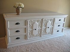 an old nasty dresser with an updo : )