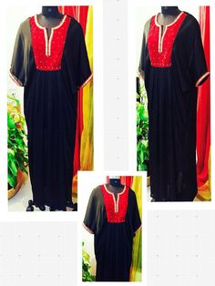 Black satin georgette Abaya with red velvet pearl hand-work.  Can be customized in any color. To book your order/any query, contact us: call/whatsapp on +91 9833617147.  Like us? Follow us! https://m.facebook.com/VastranDecorbySoumiyaKhanna  #Fashion #fashionista #fashionblogger #bollywoodfashion #indian #bollywood #stylediva #diva #pretty #boutique #designer #clothing #clothingline #clothingbrand #womenswear #womensbrand #womensfashion #garments #clothes #clothesforsale #hep #wardrobe