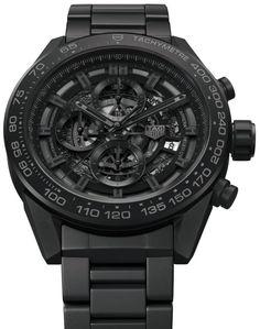 TAG Heuer Carrera Heuer-01 Full Black Matt Ceramic Watch For CHF7,000 Watch Releases