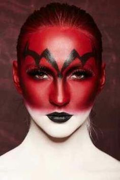 Awesome halloween makeup look, really dark and evil and demonic. Description from pinterest.com. I searched for this on bing.com/images