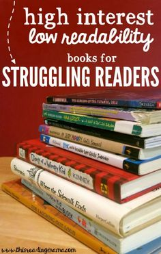 High Interest Low Readability Books for Struggling Readers - This Reading Mama