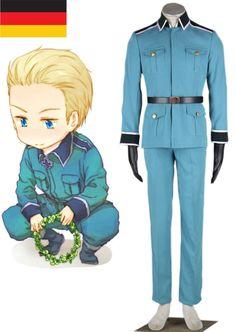 Axis Powers Hetalia Germany Ludwig Beilschmidt Uniform Cosplay Costume