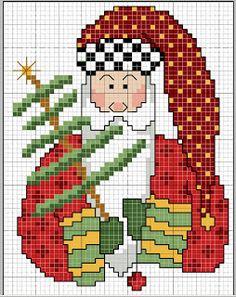 Gráficos navideños en punto de cruz ~ Mimundomanual