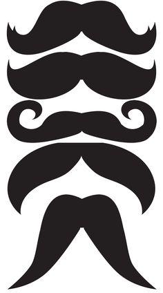 Plantillas de mostachos y bigotes diversos. - Ideas y material gratis para fiestas y celebraciones Oh My Fiesta!