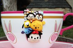 Disney Tsum Tsum riding the teacups. What are these adorable things are where is mine.
