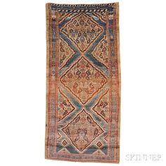 Antique Hamadan Long Rug, Iran, c. 1900, 8 ft. 9 in. x 4 ft. 3 in. | Skinner Auctioneers Sale 2884B