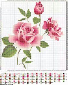 Cross-stitch Beautiful Roses