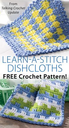 Dippity Doos & Precision Dishcloths Download from Talking Crochet newsletter. Click on the photo to access the free pattern. Sign up for this free newsletter here: AnniesNewsletters.com.