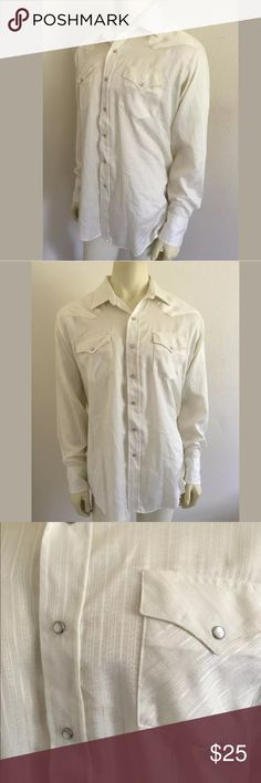 Men's western rockabilly shirt Length Shoulder To Hem: 31.5 Fabric Content: 75% polyester, 25% cotton Chest: 44 This seems to run a bit small. Please check measurements.     SKU: SD14305 Karman Shirts Casual Button Down Shirts
