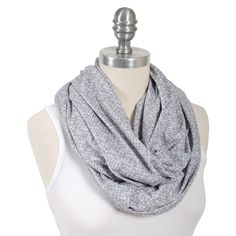 Bebe au Lait Premium Cotton Jersey Nursing Scarf Grey - Lexington