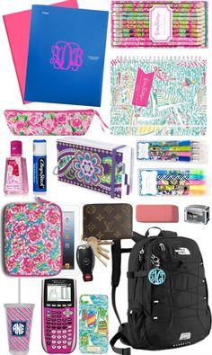 Cute school supplies.